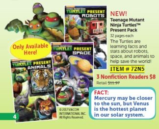 Teenage Mutant Ninja Turtles Present: Animals, Space, and Robots! club ad